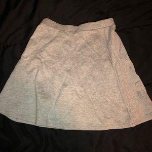 American Apparel gray circle skirt